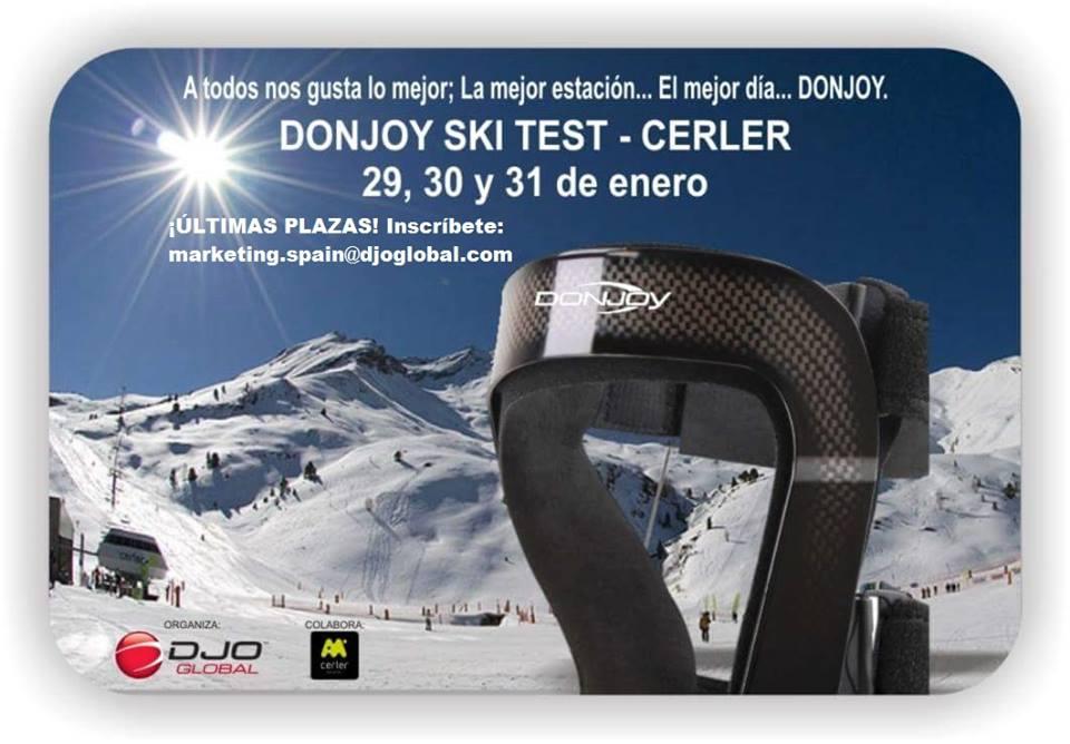 Donjoy Ski Test Cerler- Dissalud Lleida comercializa ortesis esportives de Donjoy 1